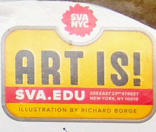 NYの地下鉄ホームで見かけたアート・スクール(School of Visual Arts)の広告_b0007805_08024253.jpg