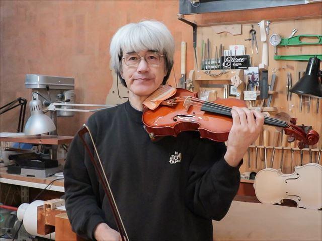最新作ヴァイオリン、音のテスト。_d0047461_15330767.jpg