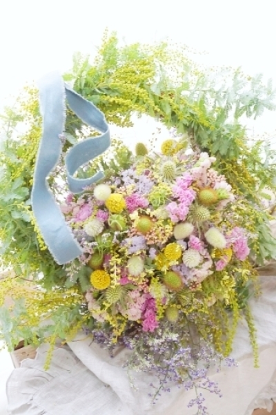 春の歓びリースbyKACHA花_b0151911_23372651.jpg