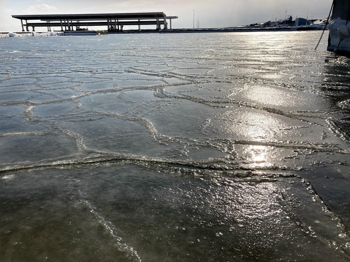 漁港、海水の結氷_c0189970_13234424.jpg