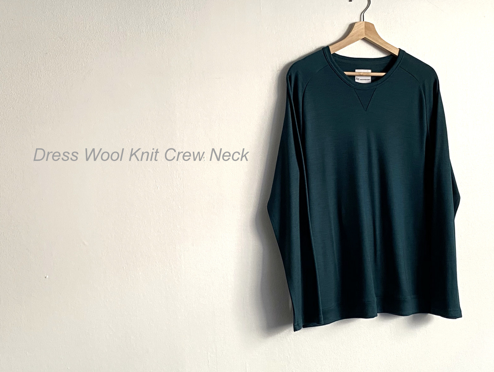 Dress Wool Knit Crew Neck_c0379477_19230851.jpg