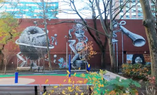 じわじわ、じっくりニューヨークの壁画巡り、チェルシー編(1)10番街周辺_b0007805_19062904.jpg