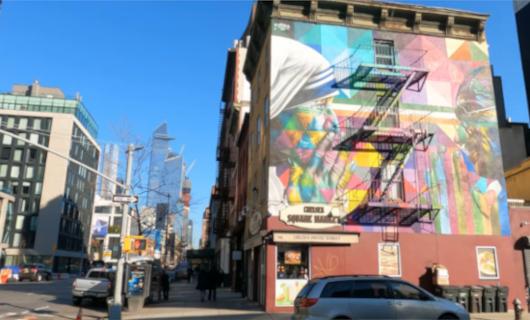 じわじわ、じっくりニューヨークの壁画巡り、チェルシー編(1)10番街周辺_b0007805_19242391.jpg