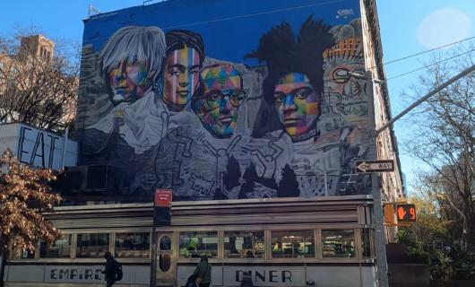 じわじわ、じっくりニューヨークの壁画巡り、チェルシー編(1)10番街周辺_b0007805_19314726.jpg