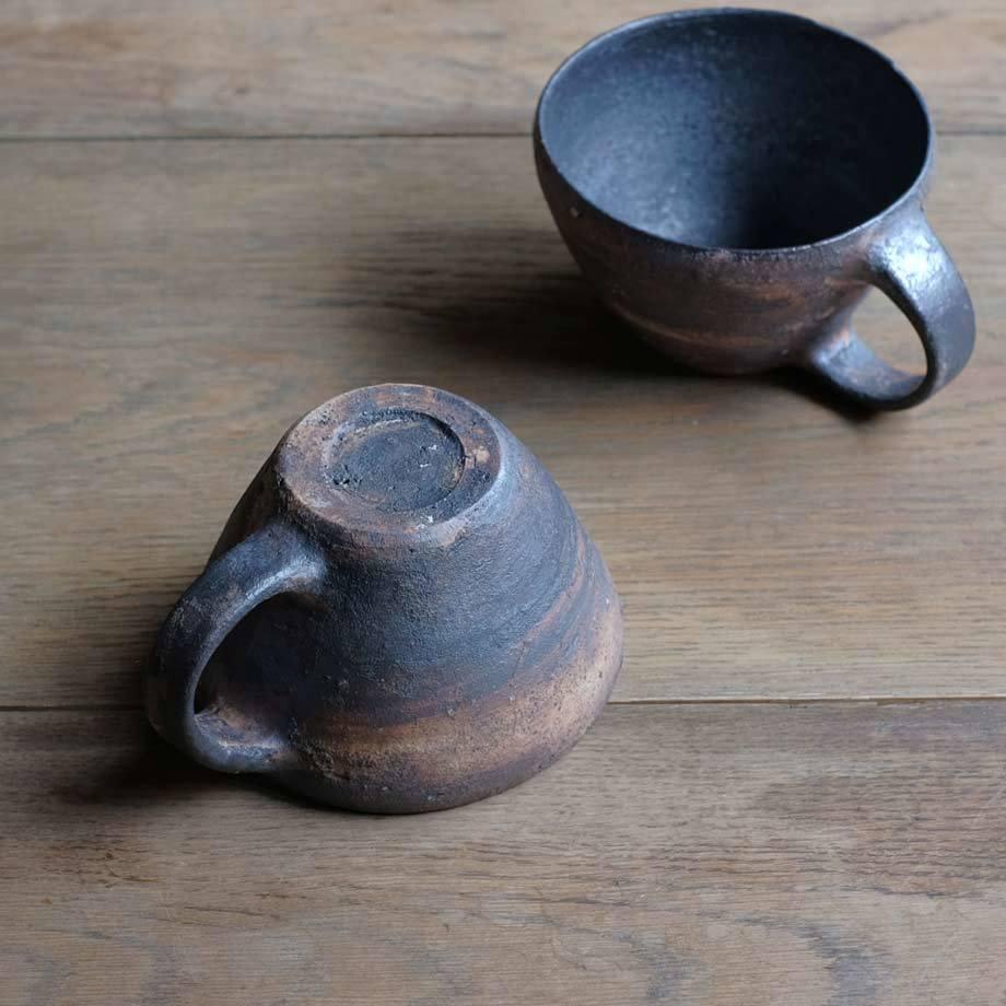 石原祥充さんの広口コーヒーカップ黒_f0380269_21512212.jpg
