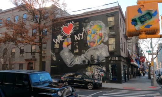 じわじわ、じっくりニューヨークの壁画巡り、チェルシー編(3)新旧ごちゃまぜエリア_b0007805_09363231.jpg
