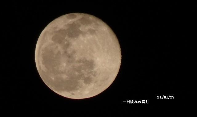 程久保川を散歩、1月の満月、雪降る_c0051105_23400800.jpg