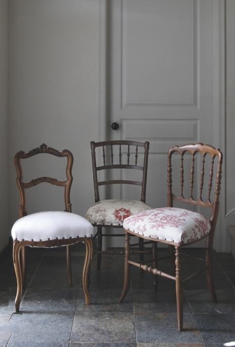 フレンチアンティーク チェア 椅子 赤座面 刺繍 トワルドジュイ ナポレオンチェア_b0179814_13022055.jpeg