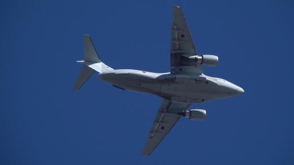 2021年の空挺降下始め本番に向けてC-130・C-1・C-2が真上を通過_d0137627_17593410.jpg