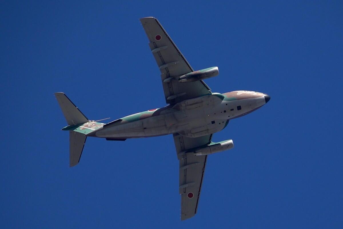 2021年の空挺降下始め本番に向けてC-130・C-1・C-2が真上を通過_d0137627_18012956.jpg