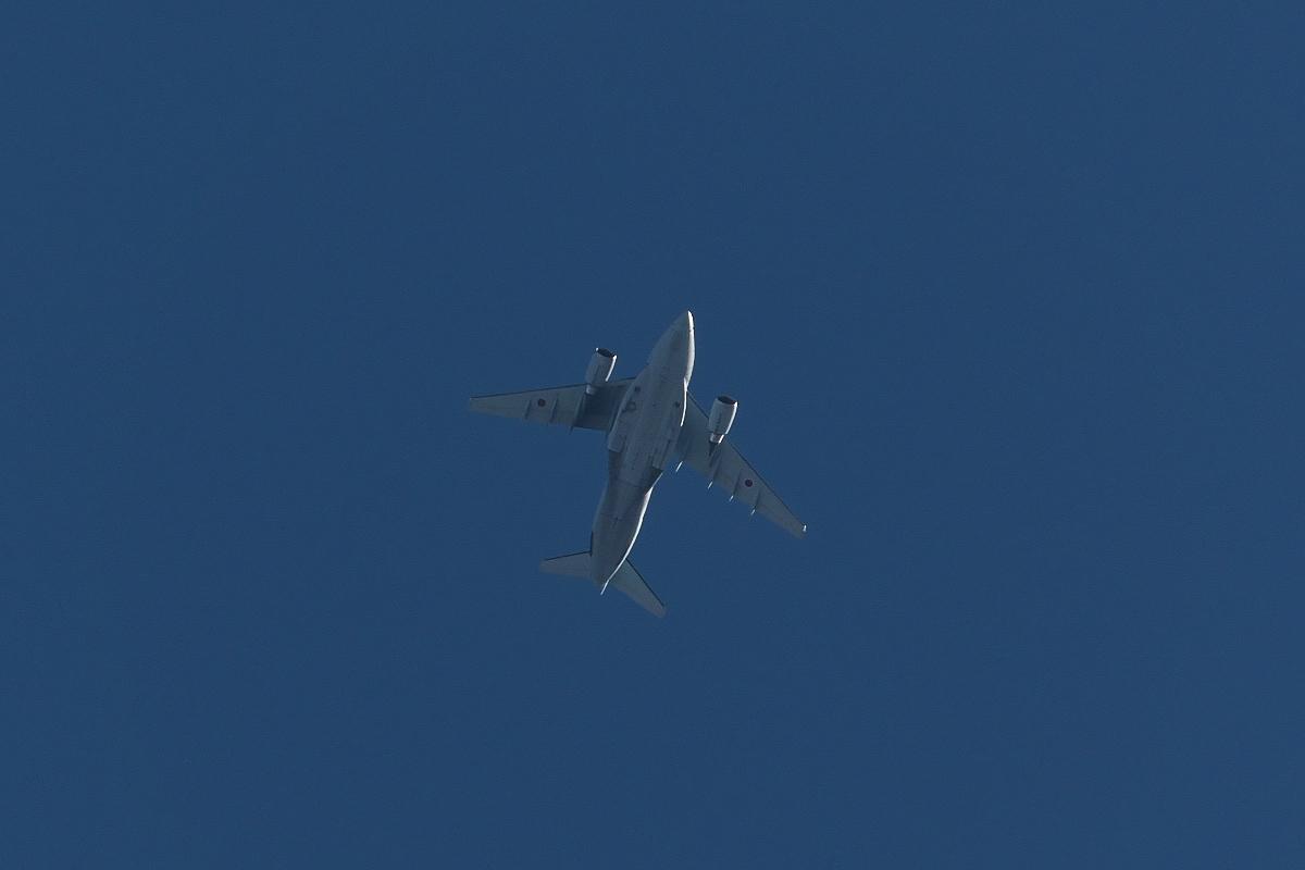 2021年の空挺降下始め本番に向けてC-130・C-1・C-2が真上を通過_d0137627_19401140.jpg