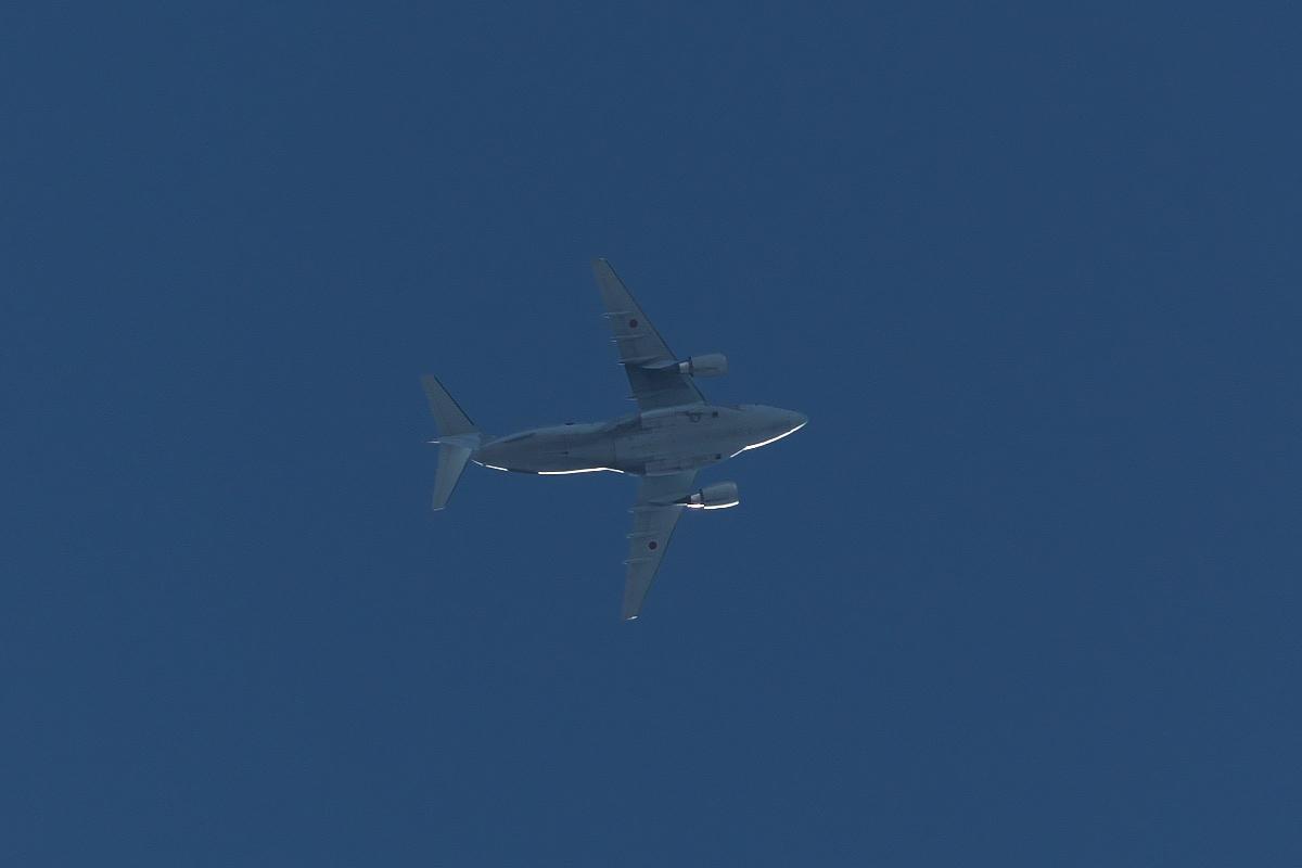 2021年の空挺降下始め本番に向けてC-130・C-1・C-2が真上を通過_d0137627_19401904.jpg