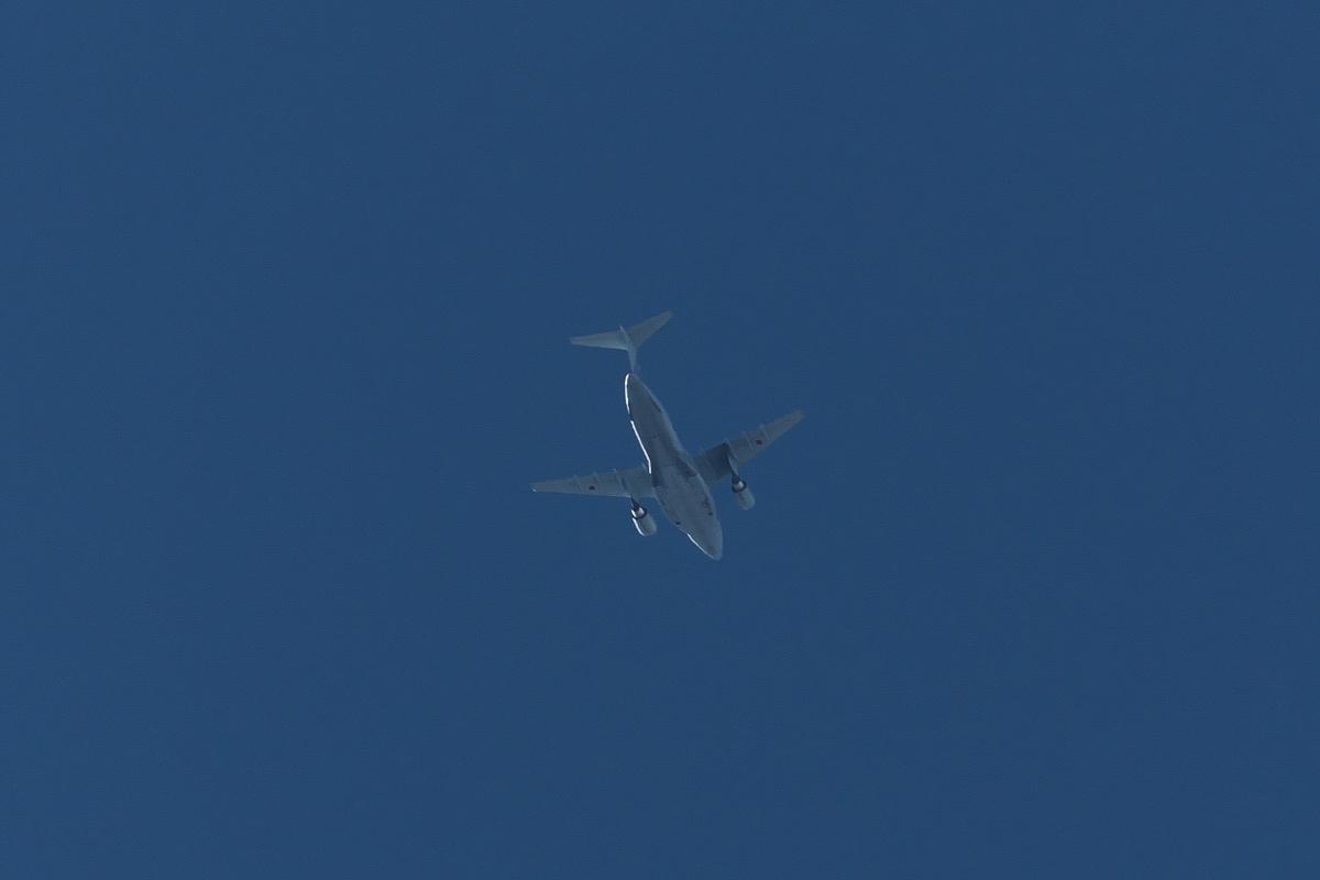 2021年の空挺降下始め本番に向けてC-130・C-1・C-2が真上を通過_d0137627_19402684.jpg
