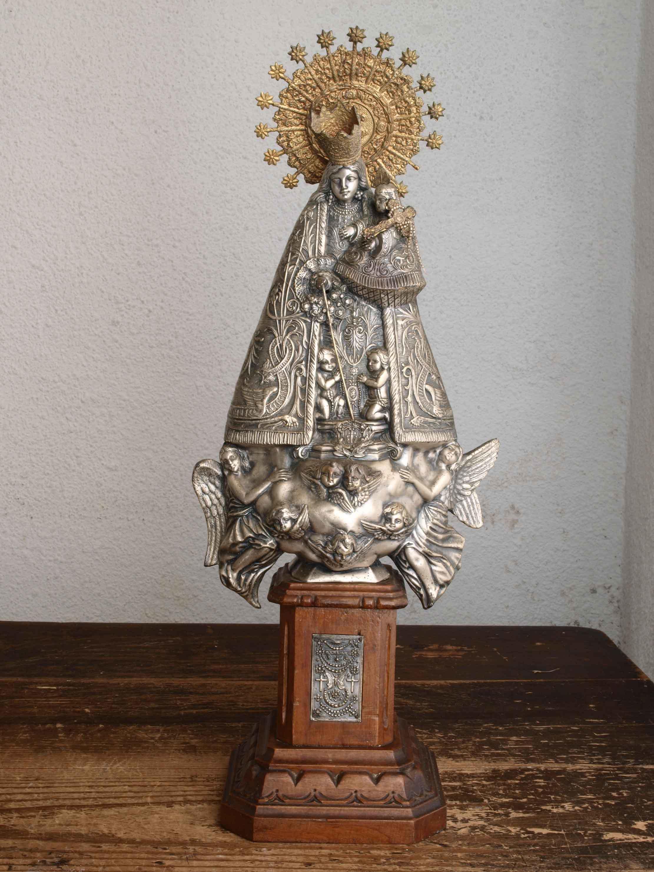 無力の聖母マリアと幼子イエス像45cm /H364_e0324838_01025038.jpg