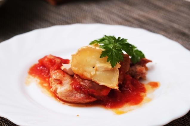 豚ロース肉のトマトソース焼き_d0377645_01262281.jpg