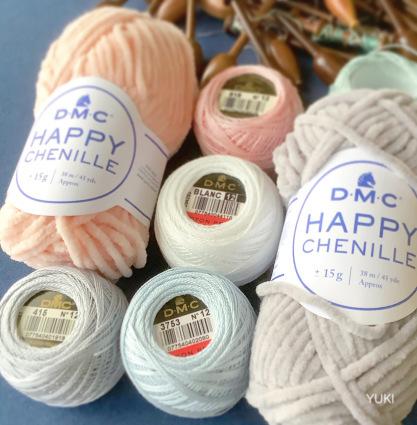 DMC HAPPY CHENILLE でボビンレースのパターンを♡_f0108001_10172160.jpeg