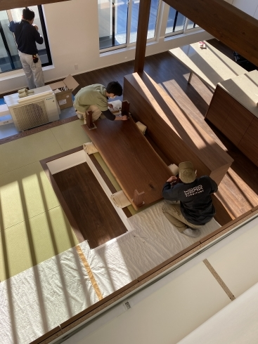 船堀の家 テーブル搬入_b0144558_20412974.jpg