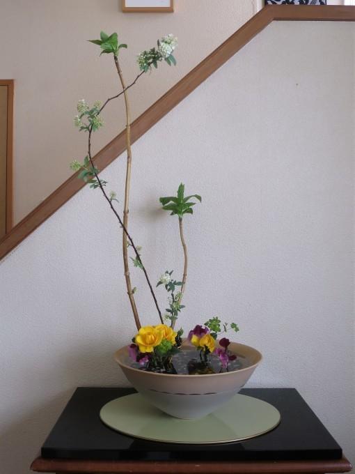 フリージア、スイトピー、額紫陽花等々春の花材_a0214206_20300030.jpg