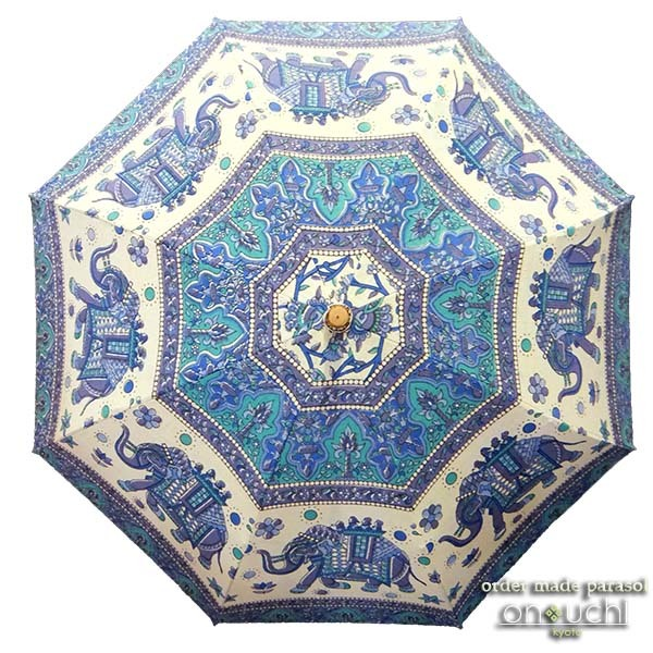 インドのお土産の布が日傘に変身!_f0184004_15444047.jpg