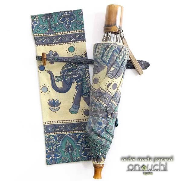 インドのお土産の布が日傘に変身!_f0184004_15444048.jpg