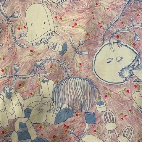(( l\'atelier du savon )) わたしの部屋プリントノーカラーブラウス_a0389054_17001251.jpg