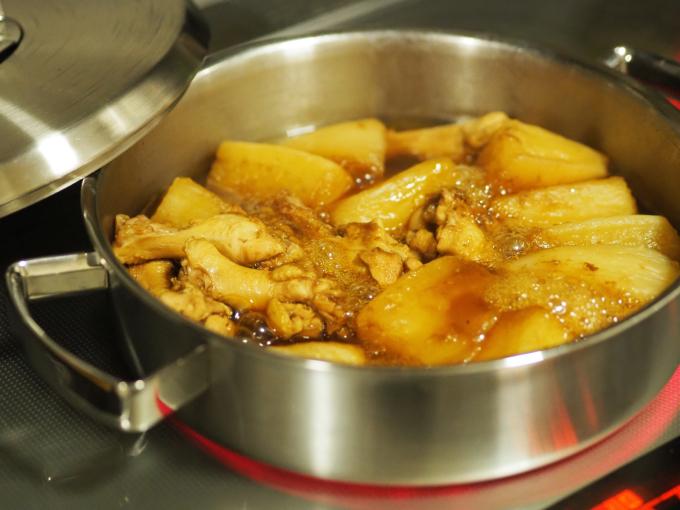 三浦大根で 鶏肉と大根の中華風煮込み 葛餡_b0347858_21485535.jpg