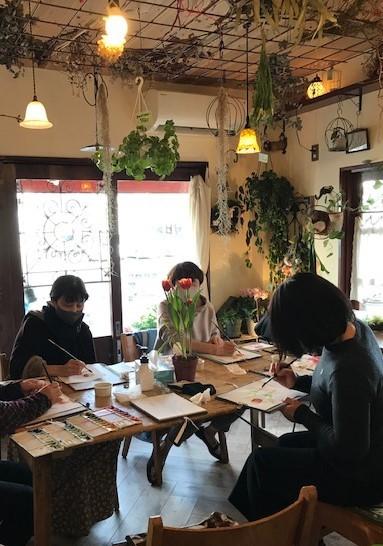 京都のプランツプランツカフェでのワークショップ、終了しました。_c0138704_21225989.jpg