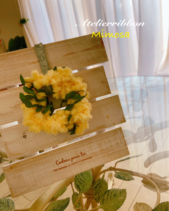 Mimosa のシュシュをスタンドに飾っても良い雰囲気♡_f0017548_08432367.jpg