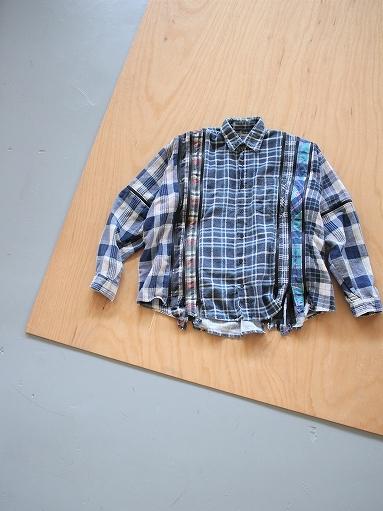 Rebuild By Needles Flannel Shirt → 7 Cuts Zipped Wide Shirt_b0139281_12144326.jpg