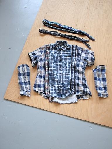 Rebuild By Needles Flannel Shirt → 7 Cuts Zipped Wide Shirt_b0139281_12144342.jpg