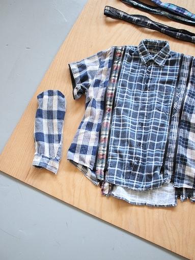 Rebuild By Needles Flannel Shirt → 7 Cuts Zipped Wide Shirt_b0139281_12144389.jpg