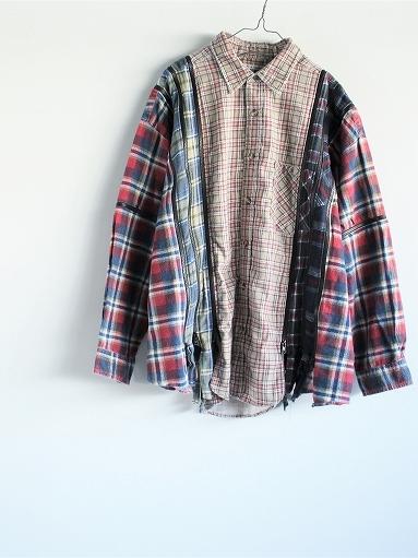 Rebuild By Needles Flannel Shirt → 7 Cuts Zipped Wide Shirt_b0139281_12153801.jpg