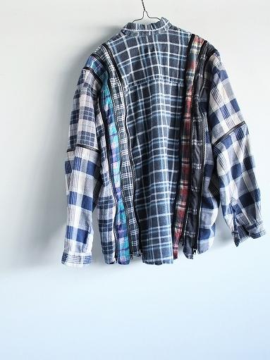Rebuild By Needles Flannel Shirt → 7 Cuts Zipped Wide Shirt_b0139281_12153803.jpg