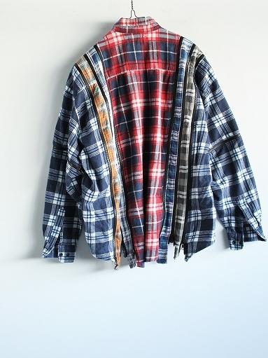 Rebuild By Needles Flannel Shirt → 7 Cuts Zipped Wide Shirt_b0139281_12153818.jpg