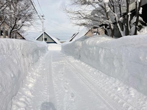 自邸の積雪状況2021/3_c0189970_18081056.jpg