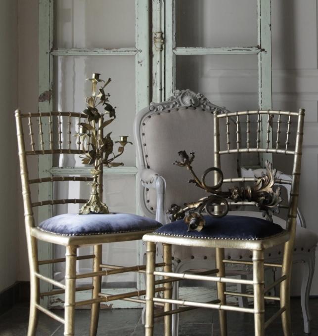 フレンチアンティーク アンティークチェア 椅子 2脚 ベルベット ゴールド 座面 張り替え済み_b0179814_13511368.jpeg