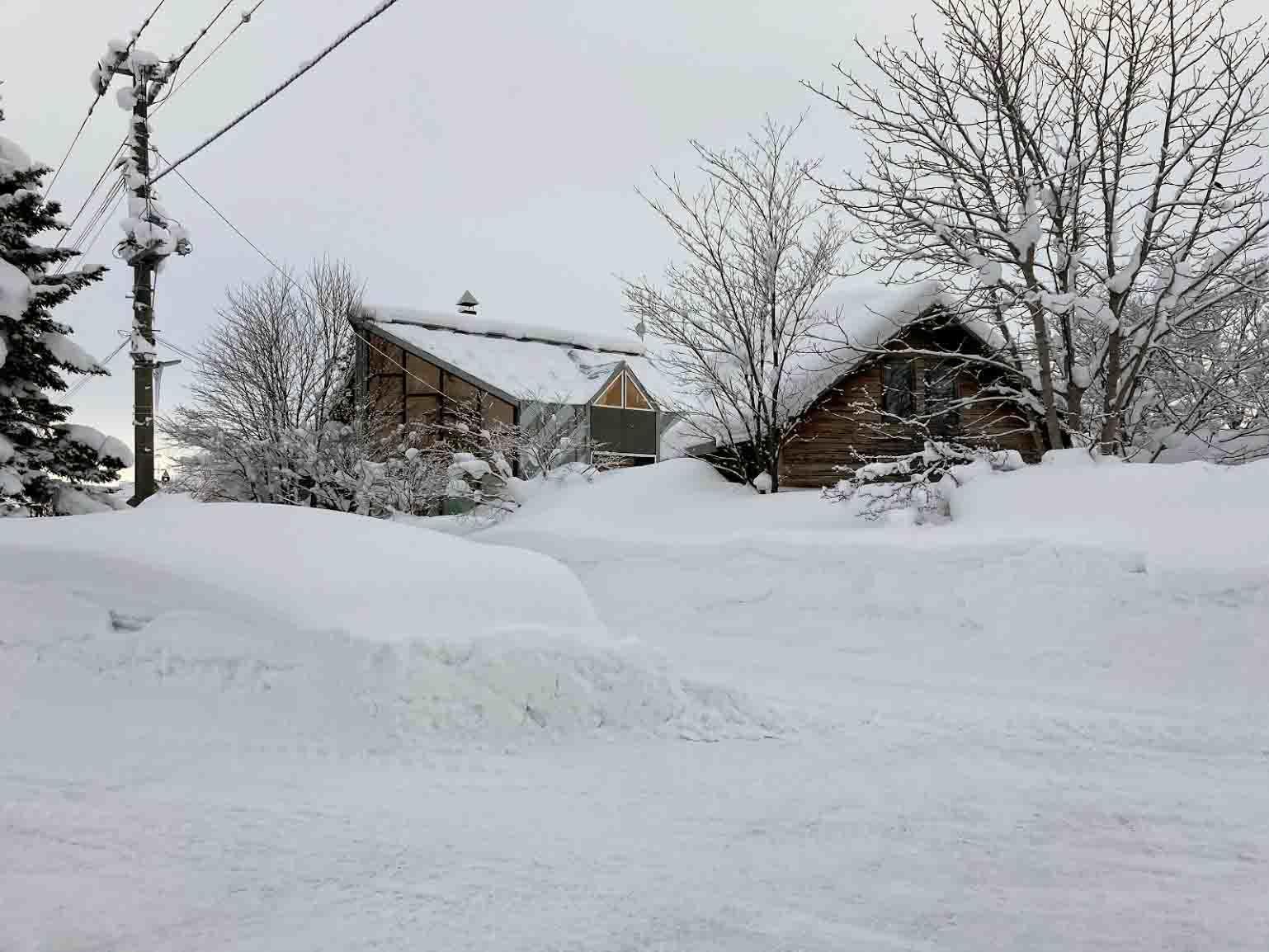 自邸の積雪状況2021/3_c0189970_09290669.jpg