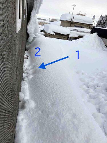 自邸の積雪状況2021/3_c0189970_09460985.jpg