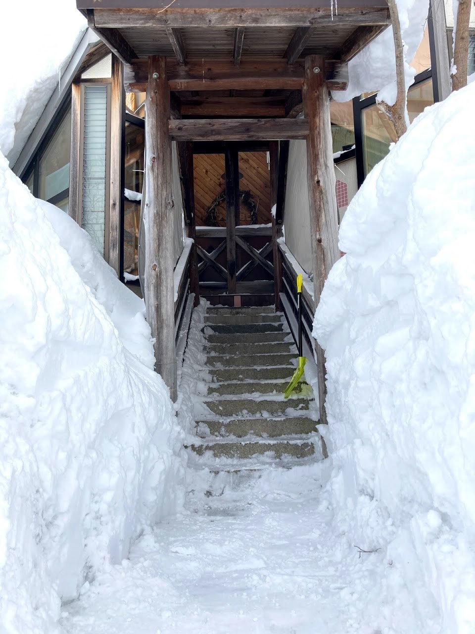 自邸の積雪状況2021/3_c0189970_11594029.jpg