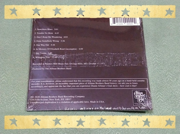 ALLMAN BROTHERS BAND / THE FINAL NOTE_b0042308_11541711.jpg