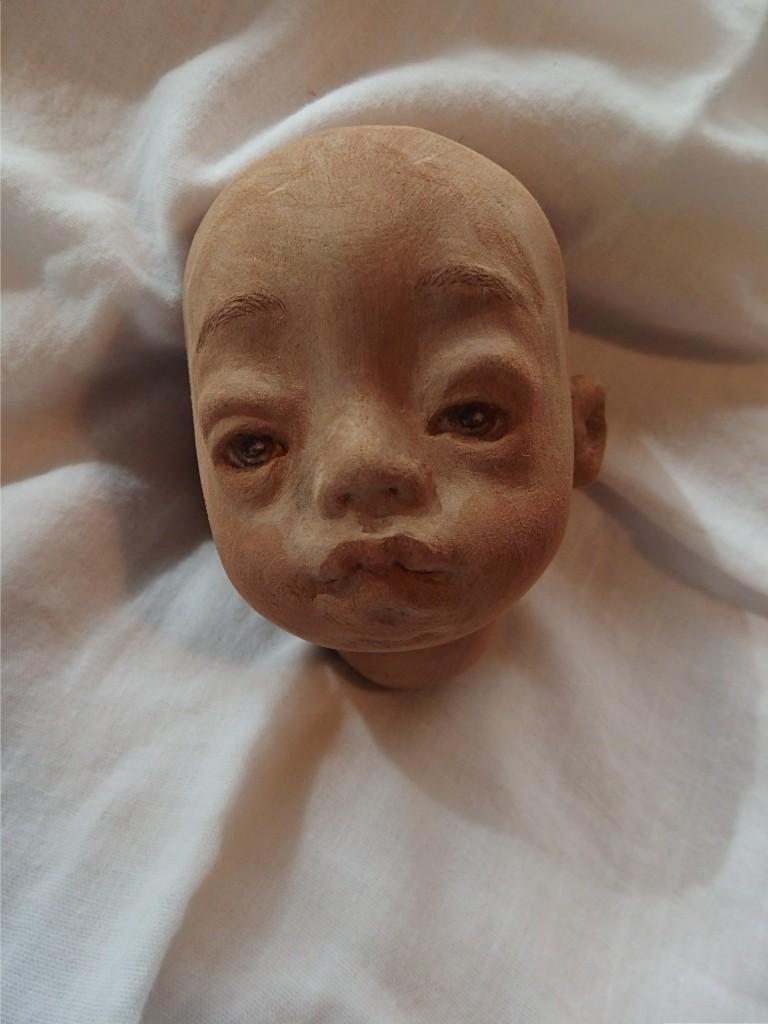42センチ女の子の顔の彩色_d0079147_16322106.jpg
