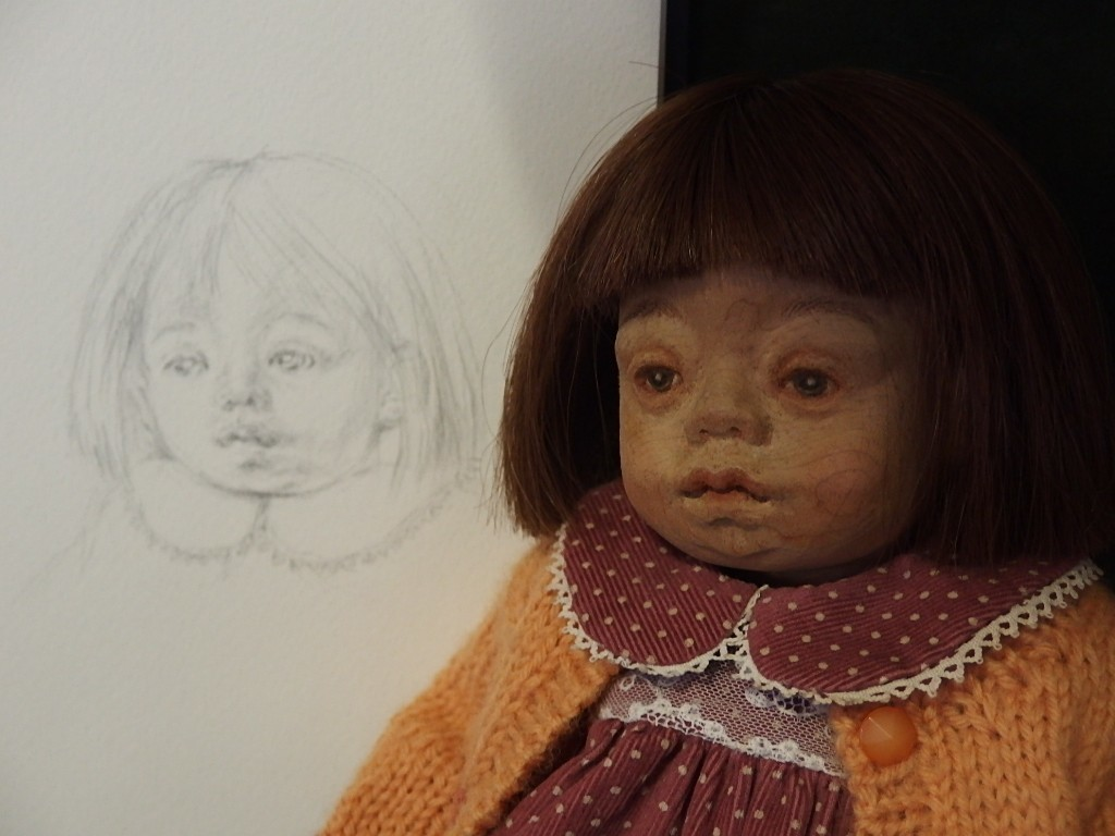 42センチ女の子の顔の彩色_d0079147_16325674.jpg