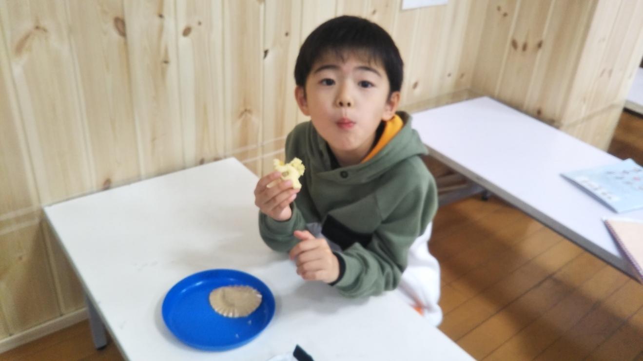 【Snack Cooking】2月10日『おいもの蒸しカップケーキづくりに挑戦!』_f0225094_19473897.jpg