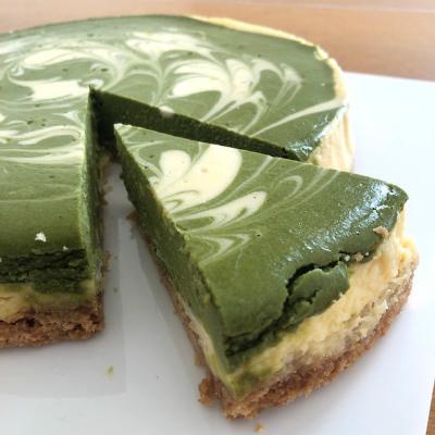 抹茶のチーズケーキ_b0102217_15491410.jpg