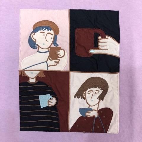 〖l\'atelier du savon〗オンラインお茶会 ワッペン刺繍 プルオーバー_a0389054_22171000.jpg