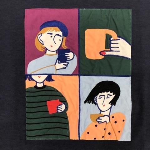 〖l\'atelier du savon〗オンラインお茶会 ワッペン刺繍 プルオーバー_a0389054_22181908.jpg