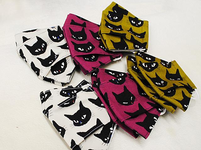 猫マスク★和柄マスク UPしました♪_d0156981_12222213.jpg