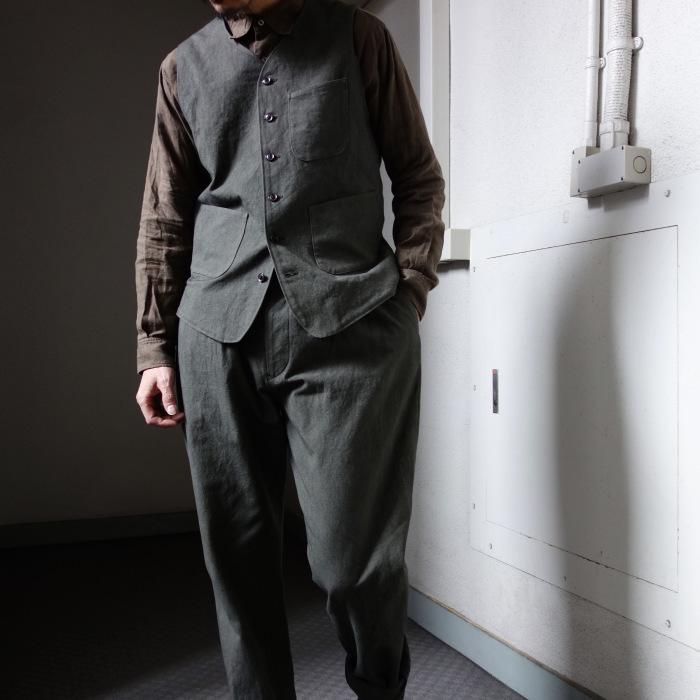 4月の製作 / DA classic vest_e0130546_14303078.jpg