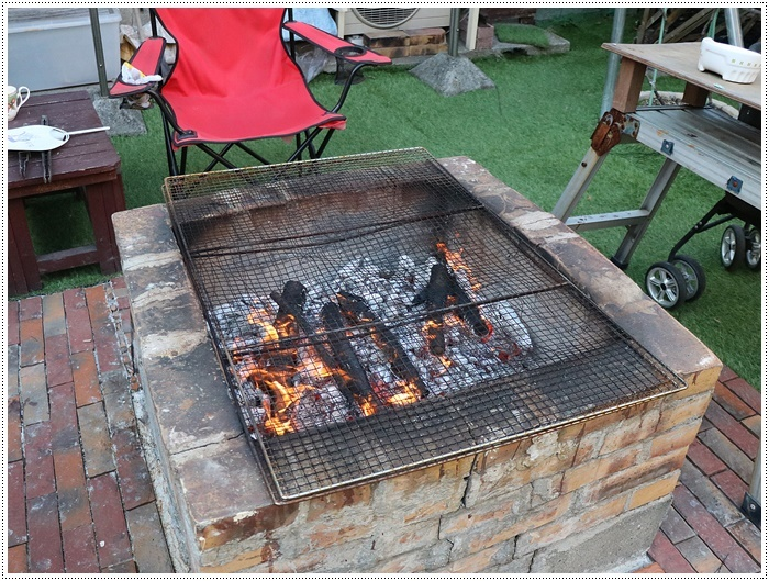 お庭BBQにはちと寒い。。。(*⌒∇⌒*)テヘ♪_b0175688_19372668.jpg
