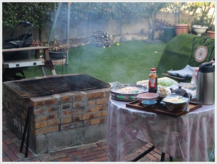 お庭BBQにはちと寒い。。。(*⌒∇⌒*)テヘ♪_b0175688_19414172.jpg